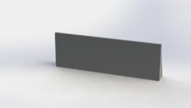 Gepoedercoat staal keerwand recht 1500mm (hoogte 500mm)