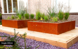 Cortenstaal plantenbak Miami 1200