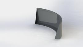 Gepoedercoat staal keerwand buitenbocht 1500x1500mm (hoogte 600mm)