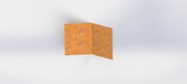 Cortenstaal koppelplaat 45º