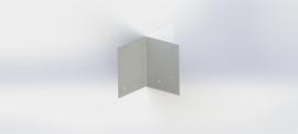 Verzinkt staal koppelplaat 90º
