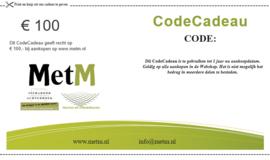 CodeCadeau twv 100 euro