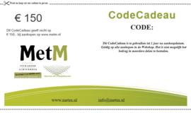 CodeCadeau twv 150 euro