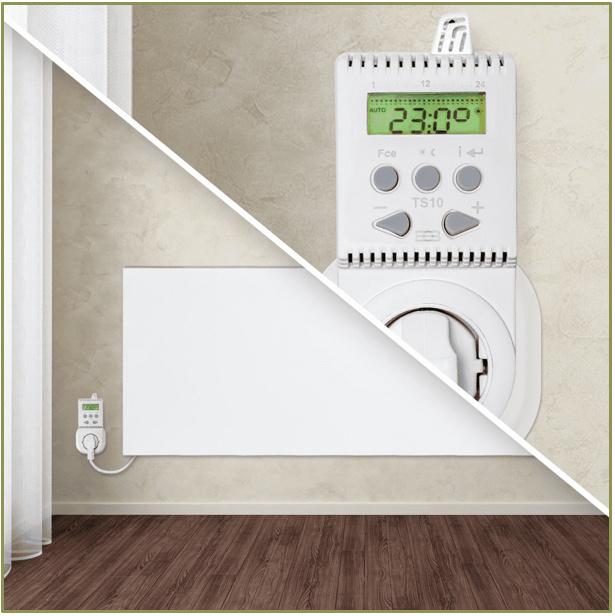 TS10 - Thermostaat met temperatuur- en tijdinstelling
