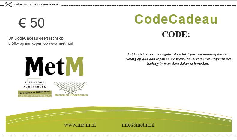 CodeCadeau twv 50 euro