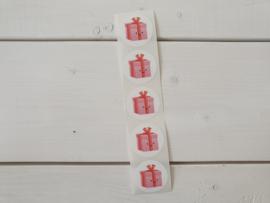 Stickers Kadootje roze - Studio Schatkist