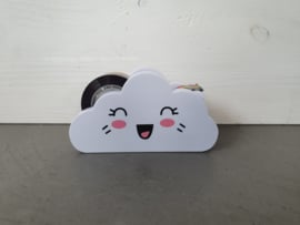 Plakbandhouder wolkje met oogjes