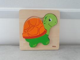 Houten puzzel schildpad