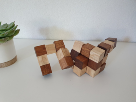 Houten IQ puzzel kubus