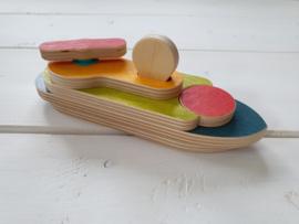 Houten 3D-puzzel boot