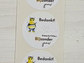 Stickers BIJzonder jaar -  5 stuks