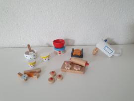 Houten poppenhuis bakset