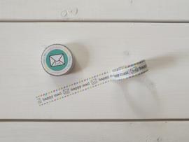 "Washi tape ""Happy mail"" - Studio Schatkist"