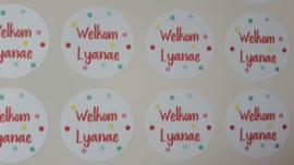 Stickers naar wens