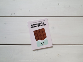 Wenskaart 'Chocolate' - Live Life Happy