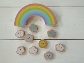 Balansspel houten regenboog