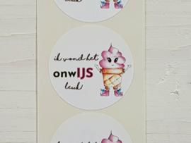 Stickers onwIJS leuk -  5 stuks