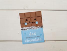 Wenskaart 'Chocolade papa' - Studio Schatkist