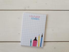 Notitieblok onbeschrijflijke ideeën - Studio Schatkist