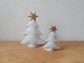Waxinelichthouder Kerstboom metaal
