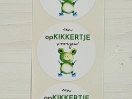 Stickers opKIKKERTJE -  5 stuks