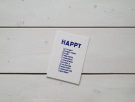 Wenskaart 'Happy' - Studio Inktvis