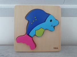 Houten puzzel dolfijn