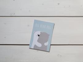 Wenskaart 'Bear hug' - Studio Inktvis