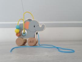 Studio Circus - houten trekfiguur olifant