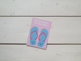 Wenskaart 'Flipflops' - Live Life Happy
