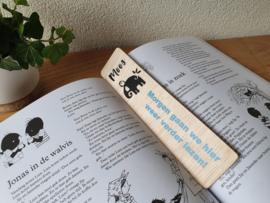 Houten boekenlegger