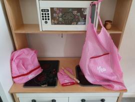 Keukenset (met naam) - roze