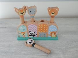 Studio Circus - houten pop-up dieren