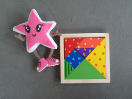 Houten gekleurde tangram