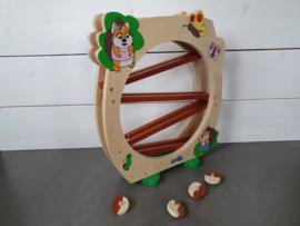 Houten rolbaan eekhoorn