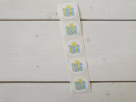Stickers Kadootje blauw- Studio Schatkist