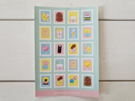 """Stickervel """"Postzegels"""" - Studio Schatkist"""