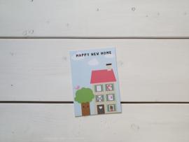 Wenskaart 'Happy new home' - Live Life Happy
