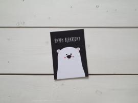 Wenskaart 'Happy b(ear)day' - Studio Inktvis