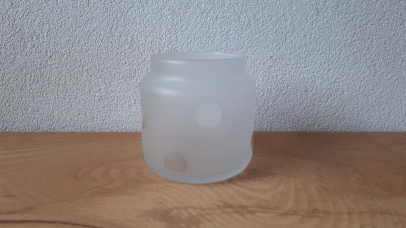 Groot glazen waxinelichthouder