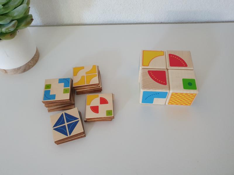 Goki houten patronen puzzel kubus