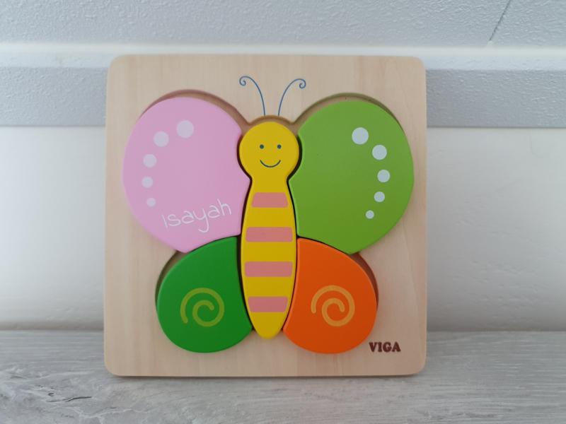 Houten puzzel vlinder
