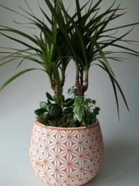 Fleurige plantenpot