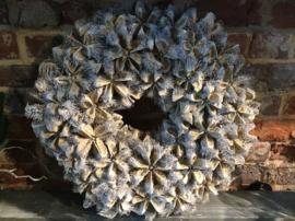 Decoratieve gedroogde krans, diameter 40cm