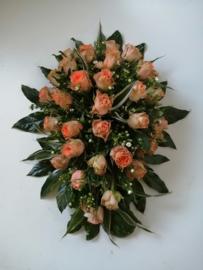 met rozen/ovaal