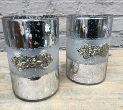 Windlicht zilver