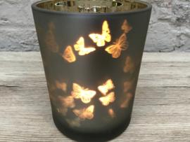 Lichthouder met vlindertjes