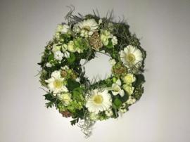 Bloemenkrans wit