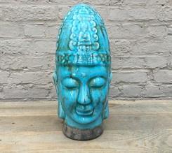 Buddha, hoofd in keramiek