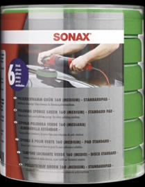 SONAX Polijstschijf groen 160 mm (medium) Six-Pack Rotary
